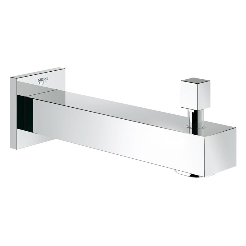 Grohe Eurocube Single Handle Wall Mounted Tub Spout Trim with ...