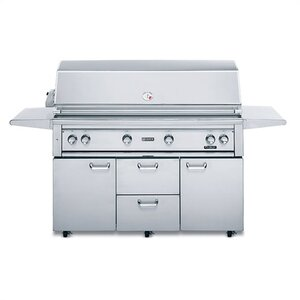 Professional ProSear 2-Burner Built-In Gas Grill with Side Shelves