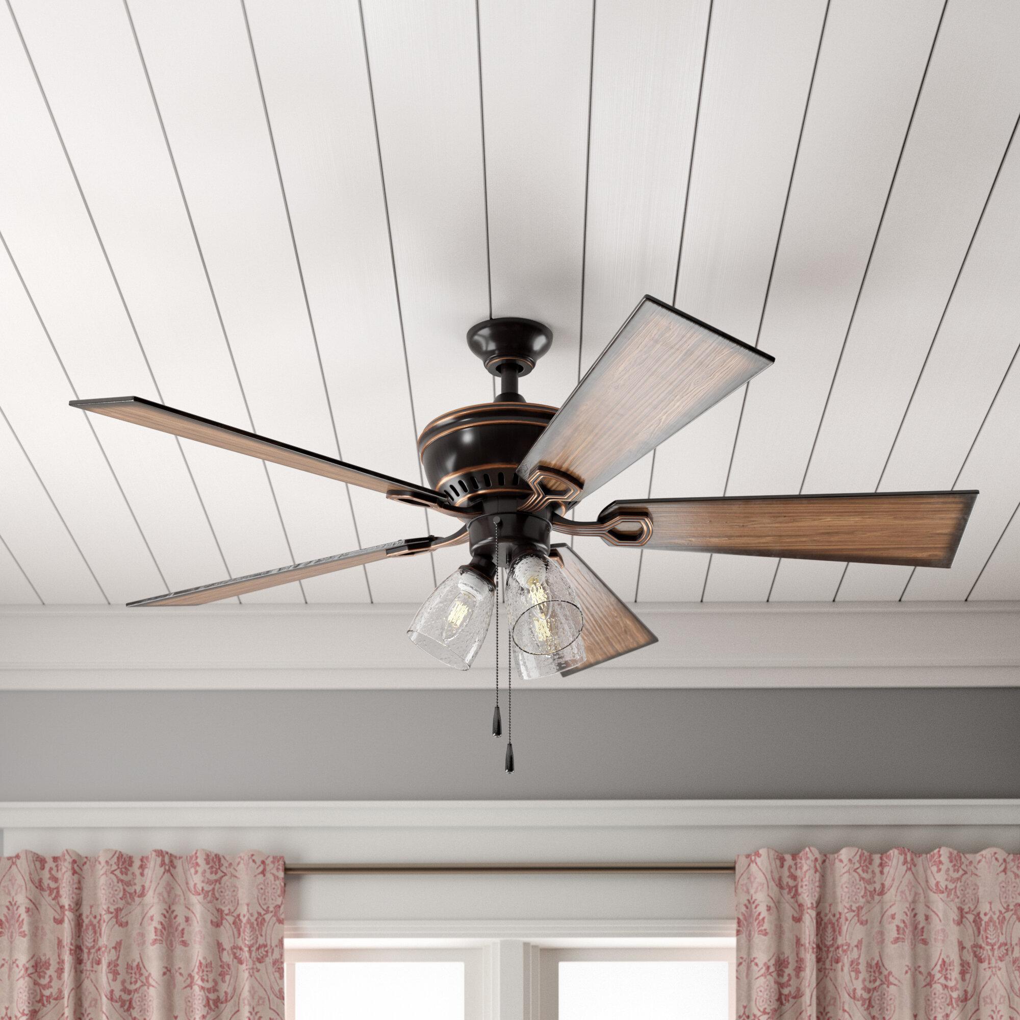 Birch lane heritage 52 ohanlon 5 blade led ceiling fan light kit included reviews birch lane