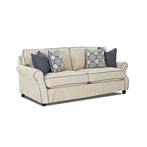 Box Cushion Loveseat Slipcover by Breakwater Bay