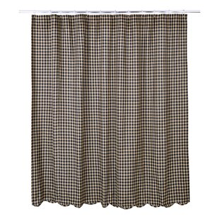 Heidi Scalloped Cotton Shower Curtain