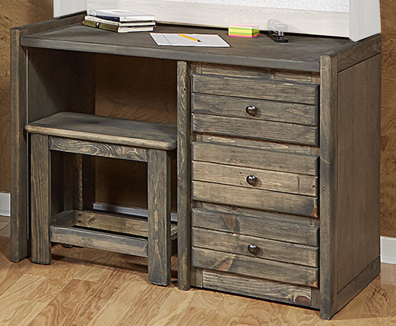 Merveilleux Harriet Bee Gundey Driftwood Student Desk And Chair Set   Wayfair