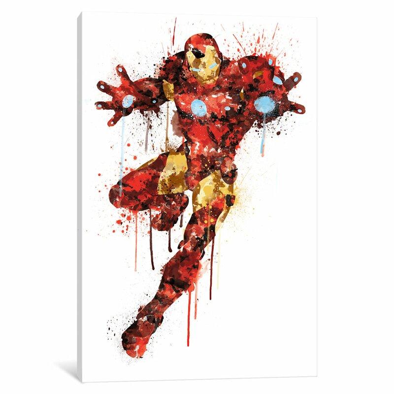 Avengers Watercolor: ICanvas 'Avengers Assemble Iron Man Watercolor' By Marvel