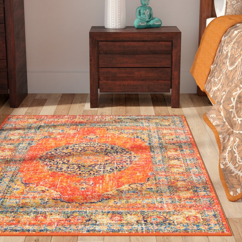 Pamela Orange Area Rug