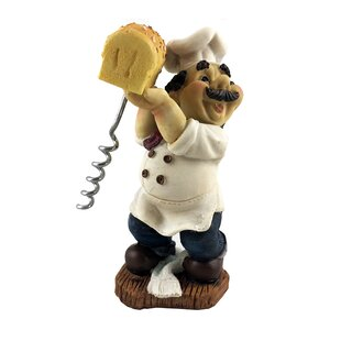 Fat Chef Italian Baker Holding Bread Figurine