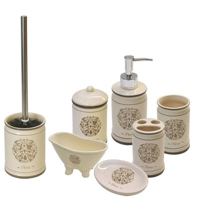 Paris Romance 6 Piece Bathroom Accessory Set
