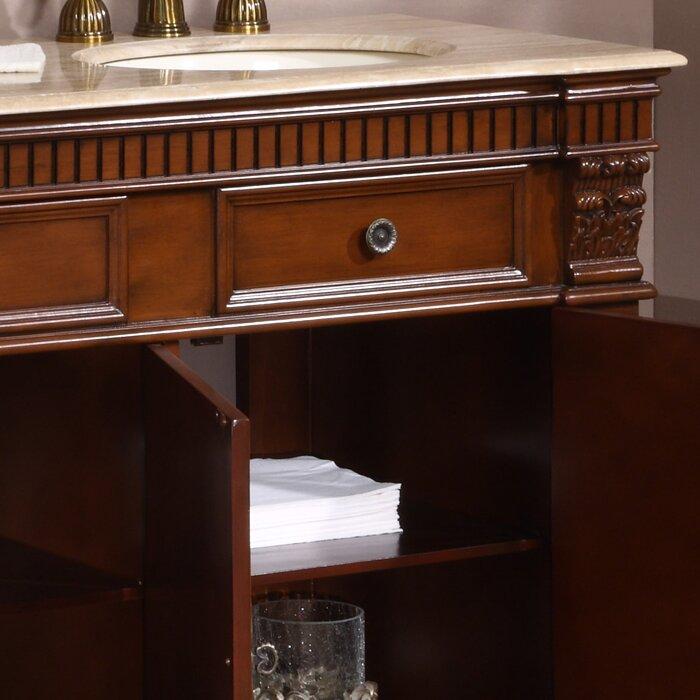 """Silkroad Exclusive Windham 67"""" Double Bathroom Vanity Set ..."""
