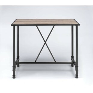 Calton Industrial Rectangular Metal Pub Table