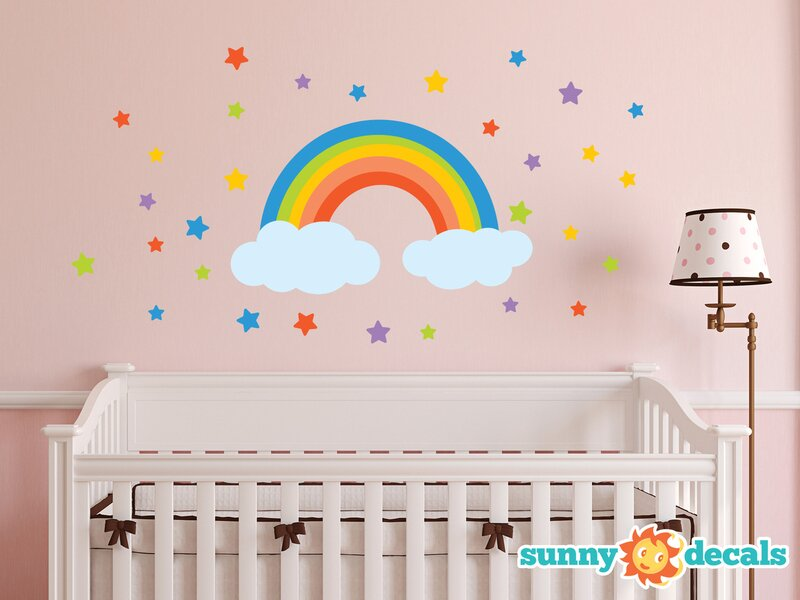 Merveilleux Rainbow Wall Decal