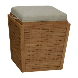 Basketweave Storage Ottoman by Household Essentials