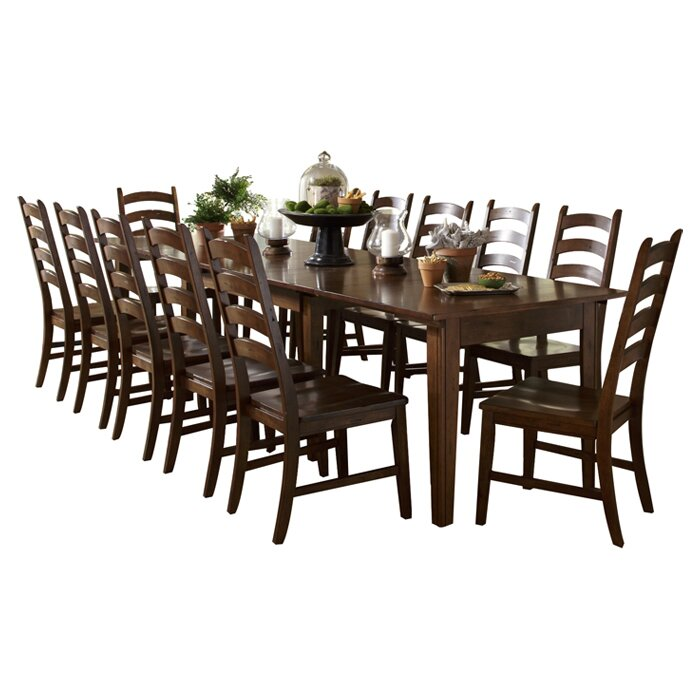 Delicieux Birchley 13 Piece Solid Wood Dining Set