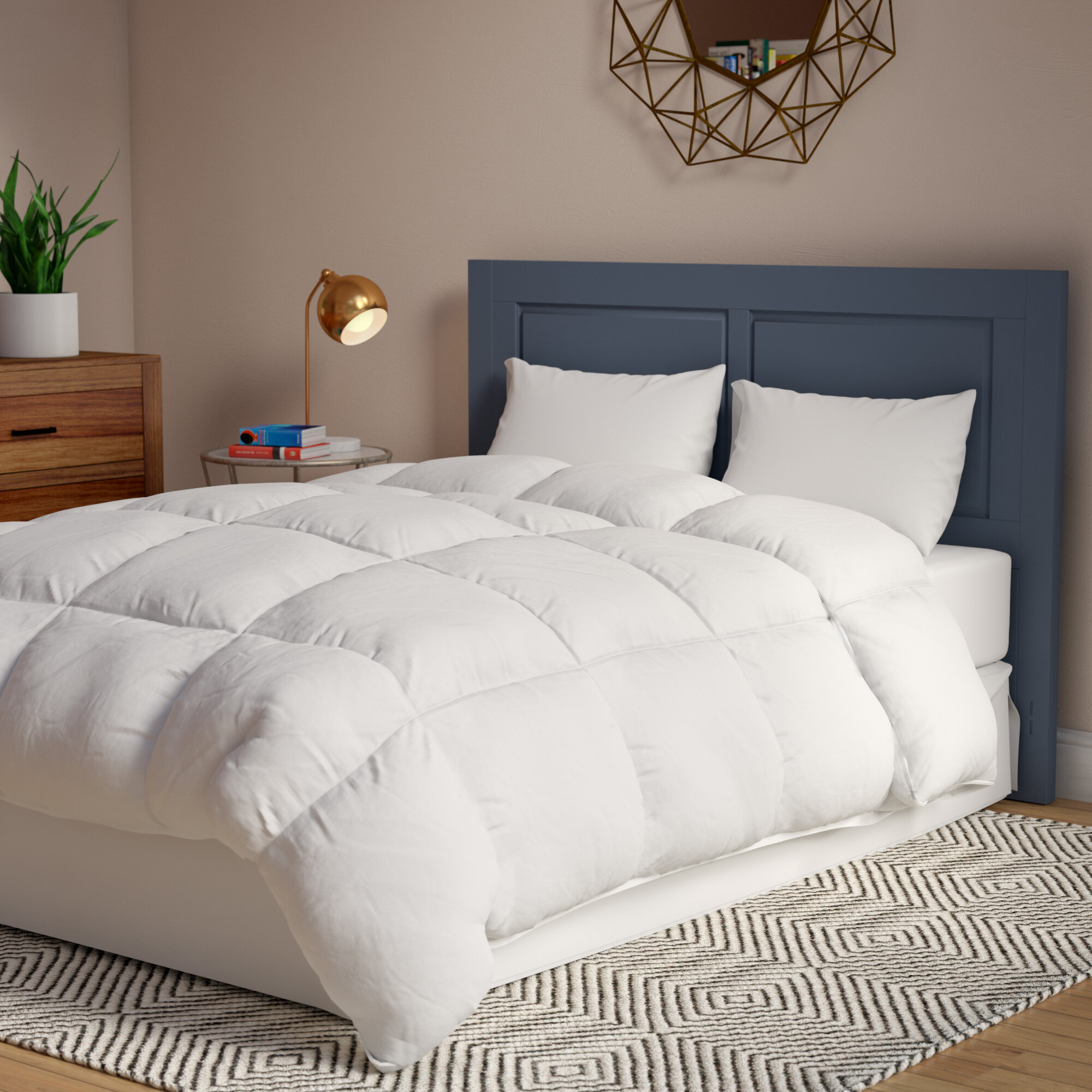 alternative and down product home white classics comforter king reversible silver