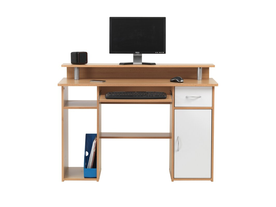 home etc maxam computer desk with keyboard tray with 1 drawer reviews. Black Bedroom Furniture Sets. Home Design Ideas