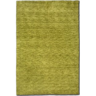 Belpre Hand Knotted Wool Green Rug by Longweave
