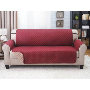 Red Barrel Studio Box Cushion Sofa Slipcover & Reviews   Wayfair