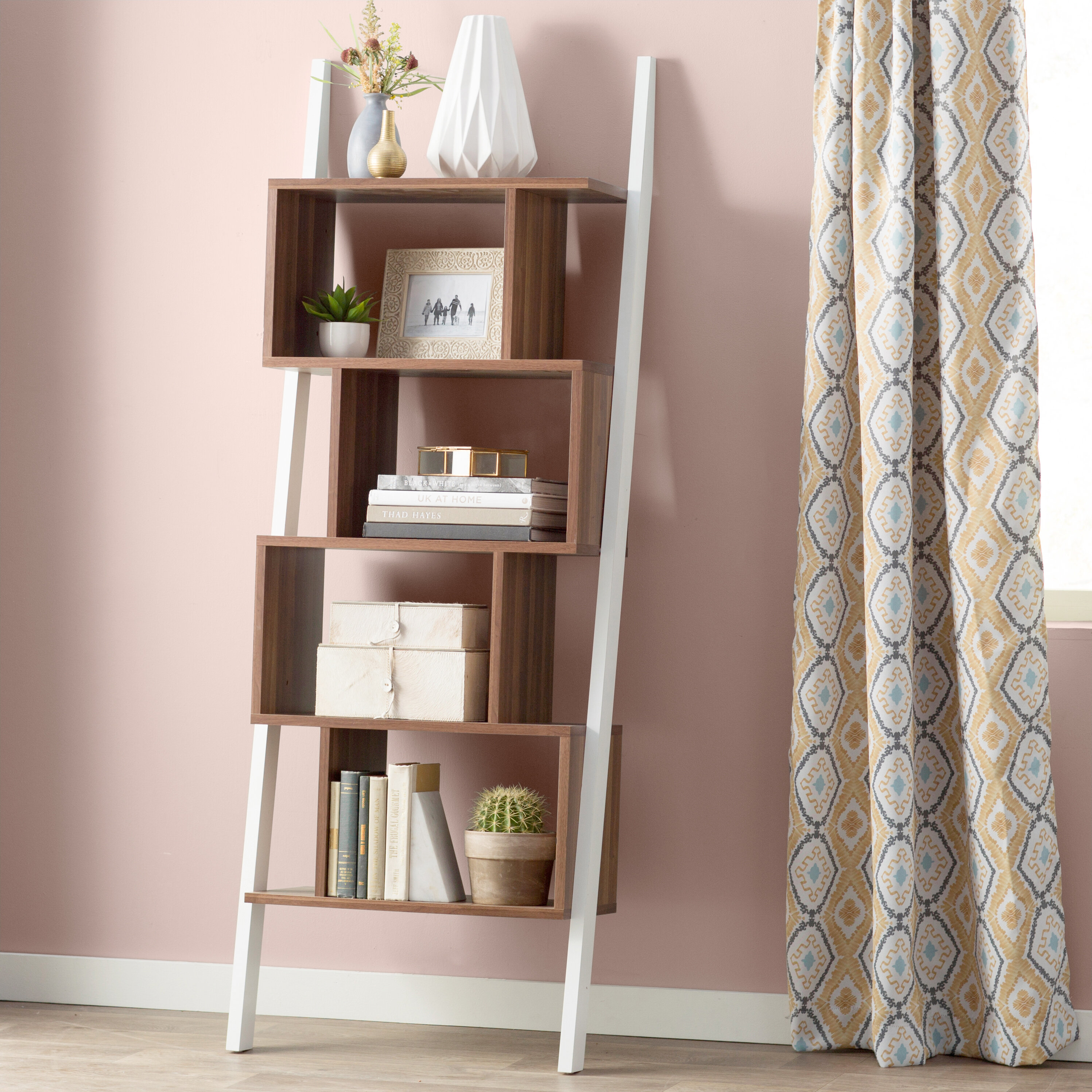 shelving ladder shelf pictures oak winsome units size prevnext leaning appealing wall storage full shelves