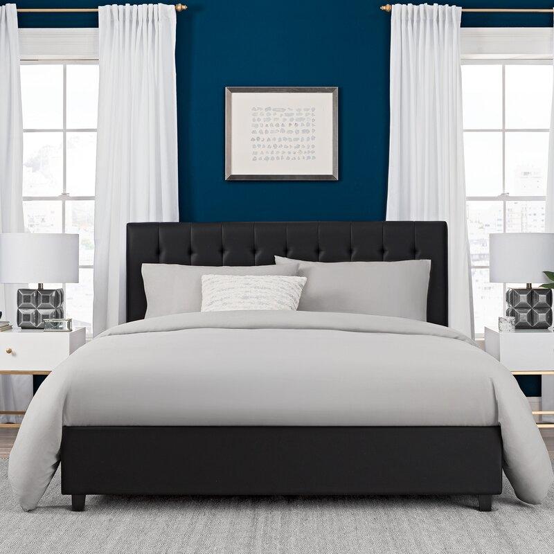 littrell upholstered platform bed - Padded Bed Frame