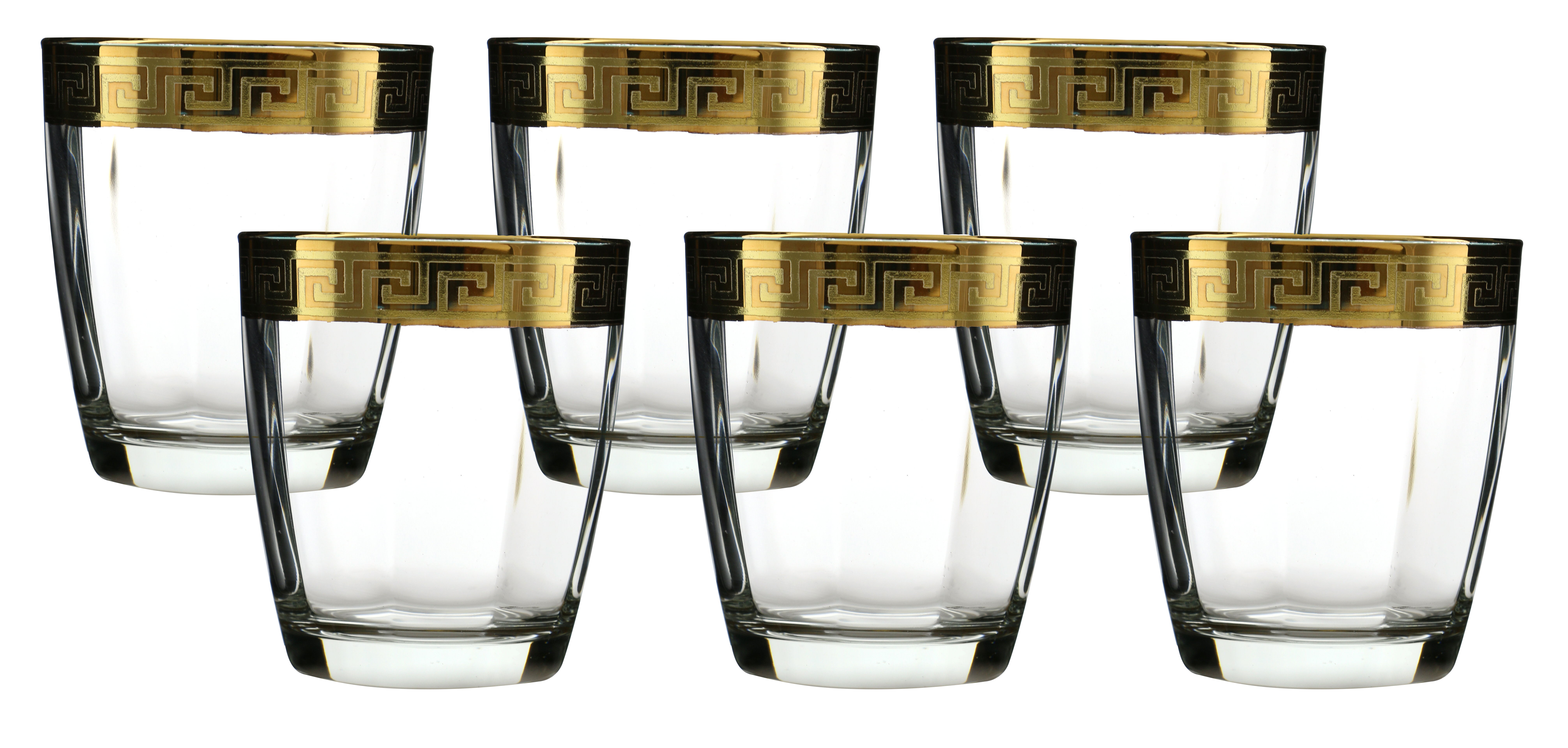 Three Star Double Old Fashion Glass With Versace Rim Decoration | Wayfair