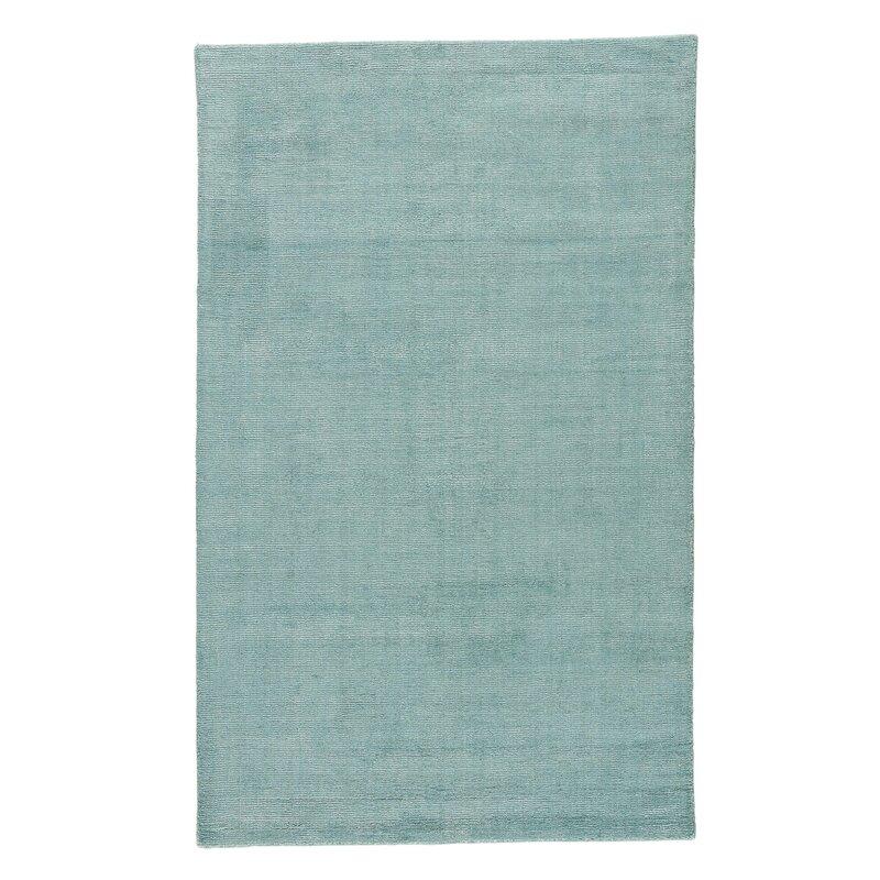 Alcott Hill Windridge Hand Woven Aruba Blue/Silver Area Rug, Size: Rectangle 8 x 10