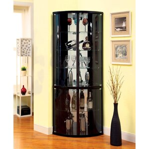 Selena Corner Curio Cabinet by Latitude Run