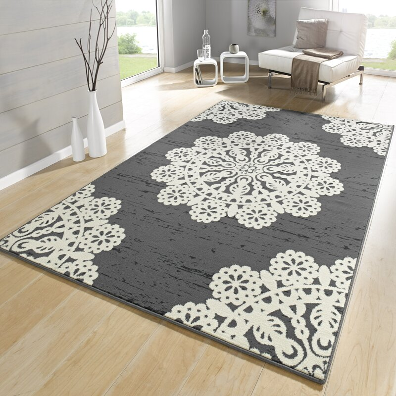 hanse home teppich lace in grau creme bewertungen. Black Bedroom Furniture Sets. Home Design Ideas