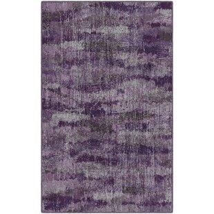 Fosse Plum, Vintage Abstract Purple Area Rug