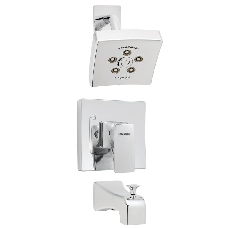 The Edge Pressure Balance Tub and Shower Faucet