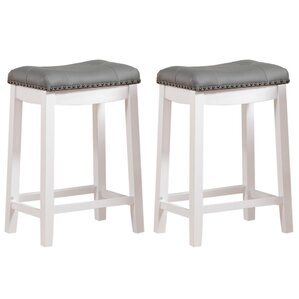 Leather Saddleback Bar Stools