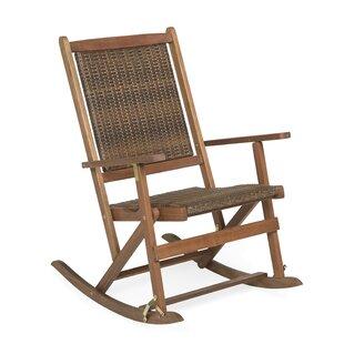 Save  sc 1 st  Wayfair & Wood Folding Rocking Chair | Wayfair