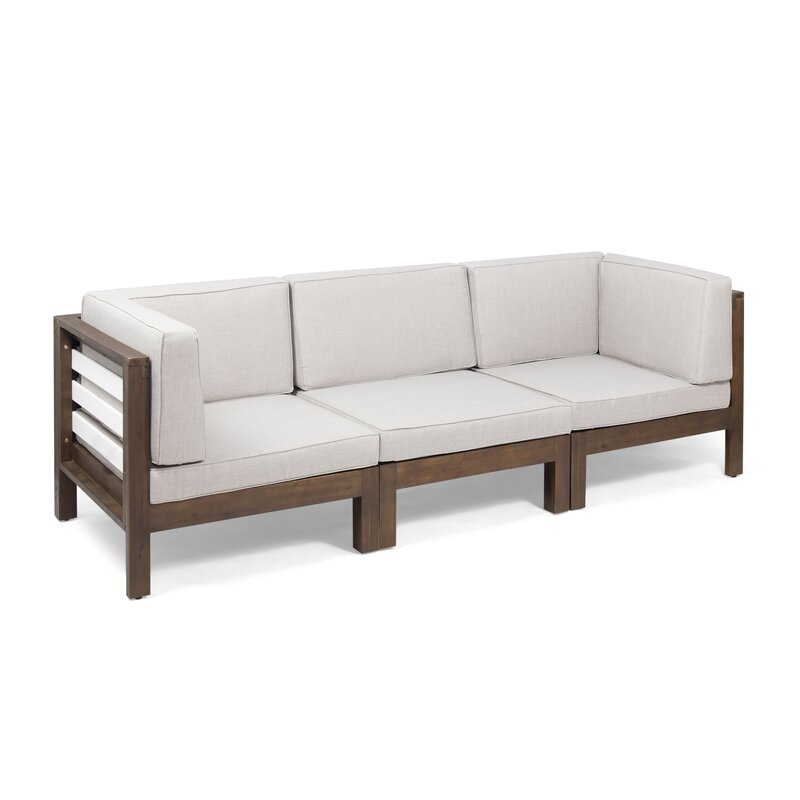 Parnell Outdoor Modular Patio Sofa with Cushions | AllModern