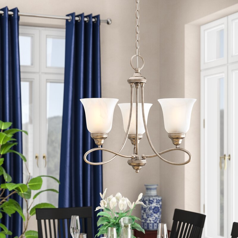 Three Posts Norwood 3-Light Shaded Chandelier & Reviews