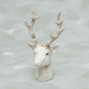 Ceramic Deer Head Hanging Figurine