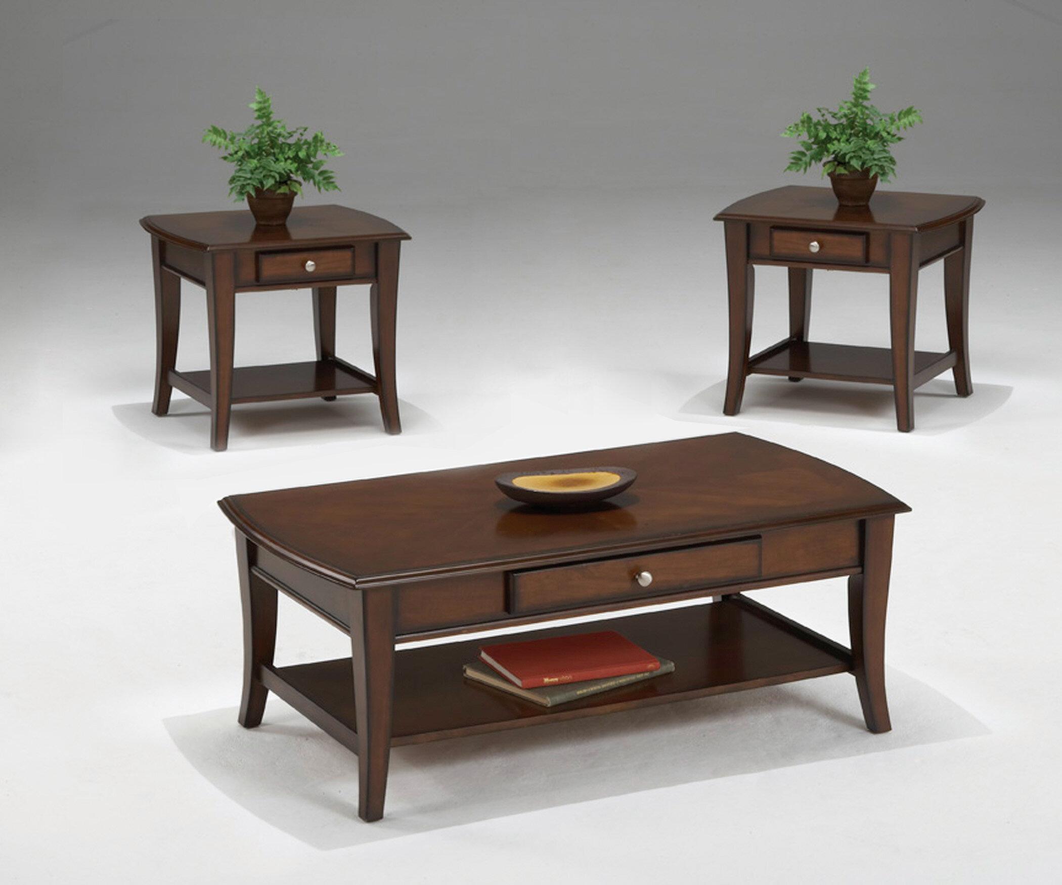 Bernards Broadway 3 Piece Coffee Table Set & Reviews