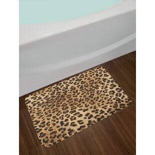 Leopard Print Skin Pattern Of A Wild African Safari Animal Ful Panthera Cat Non Slip Plush Bath Rug