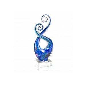 Monet Murano Glass Swirl Centerpiece Sculpture