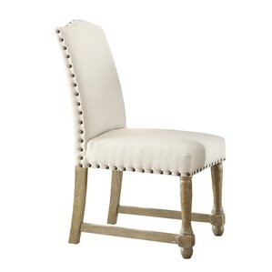 Kingman Genuine Leather Upholstered Dining Chair by Ave Six