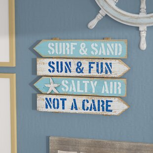 Surf And Sand Arrow Beach Wall Décor
