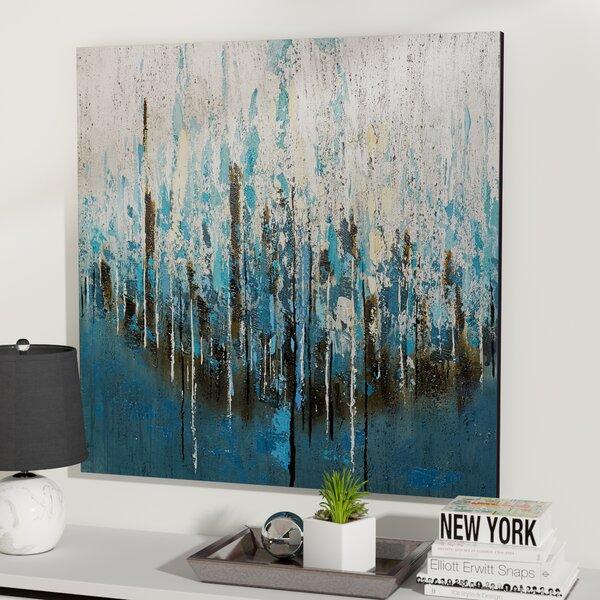Mercury Row Splash Painting Print On Wrapped Canvas