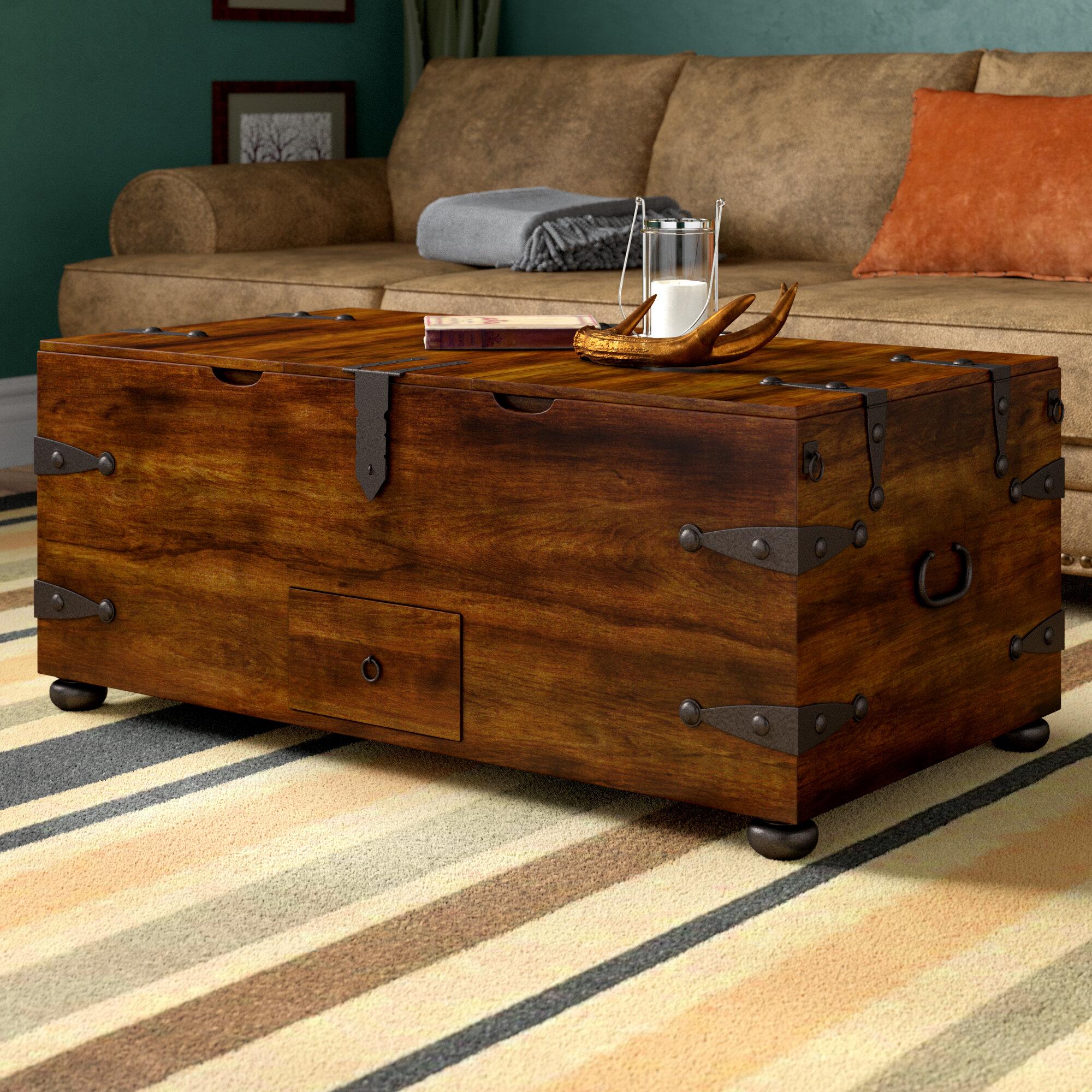 World Menagerie Castrejon Coffee Table With Storage Reviews Wayfair