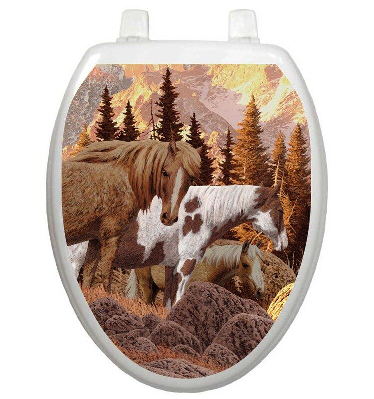 Toilet Tattoos Themes Wild Horses Toilet Seat Decal & Reviews | Wayfair