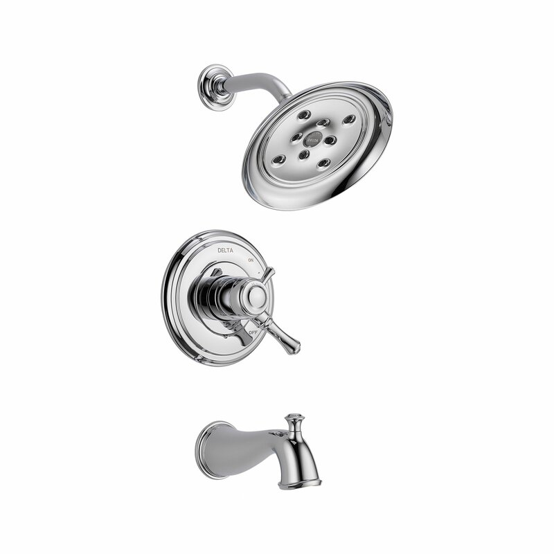 Cassidy Volume Control Tub And Shower Faucet Trim With Lever Handles