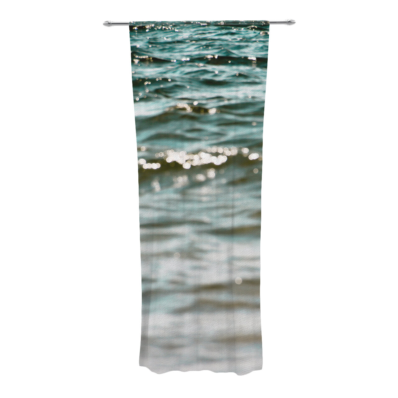 Kess InHouse Suzanne Carter Night Sky Blue Aqua Decorative Set 30 x 84 Sheer Curtains