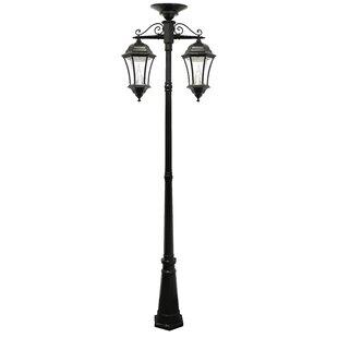 Lamp post lights youll love wayfair victorian solar lamp 2 downward hanging 13 light led 90 post light aloadofball Image collections