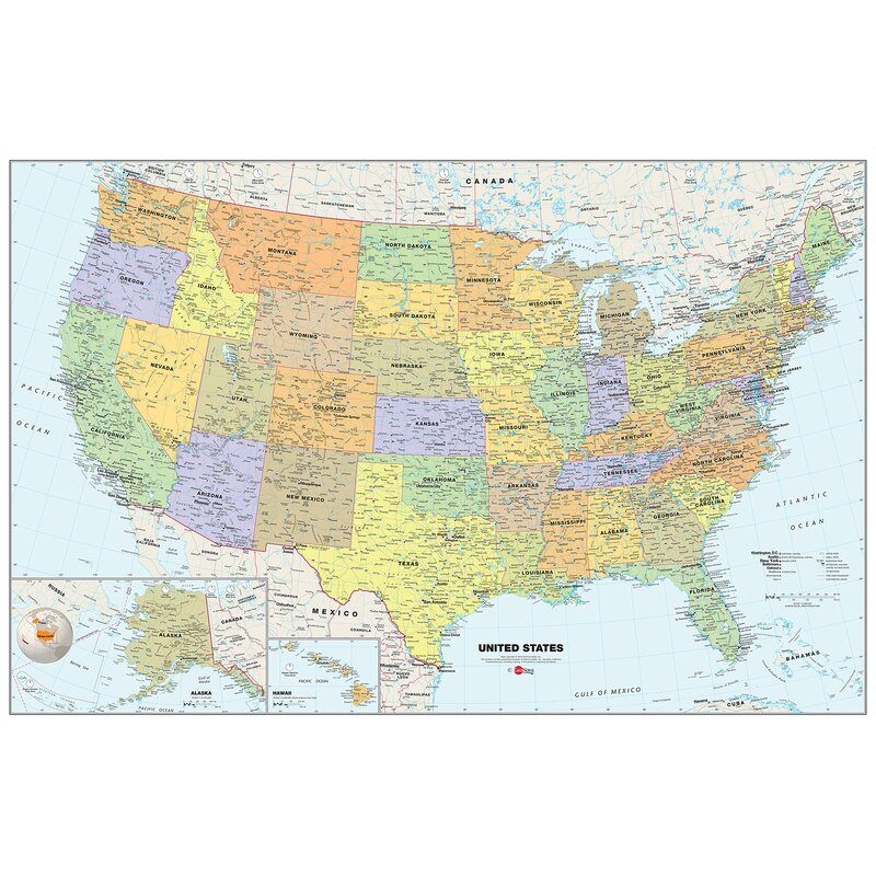 Wallpops usa dry erase map 36 x 24 wall mural reviews wayfair usa dry erase map 36 x 24 wall mural gumiabroncs