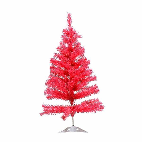 Miniature Artificial Christmas Trees: The Holiday Aisle Miniature 3' Pink Pine Artificial