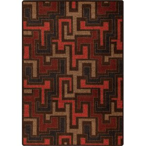 Mix and Mingle Red Umber Junctions Rug