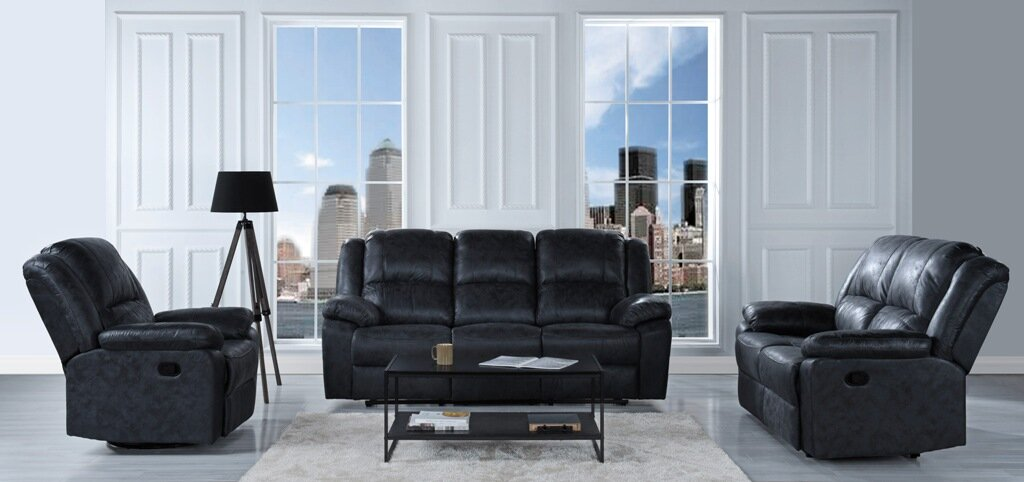 winston porter bramhall oversize and overstuffed recliner 3 piece living room set reviews. Black Bedroom Furniture Sets. Home Design Ideas
