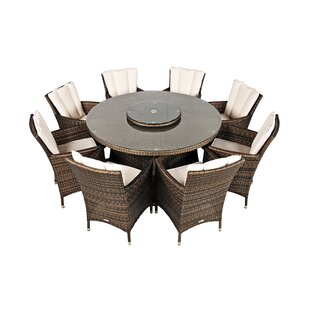 Harold 8 Seater Dining Set With Cushions And Parasol