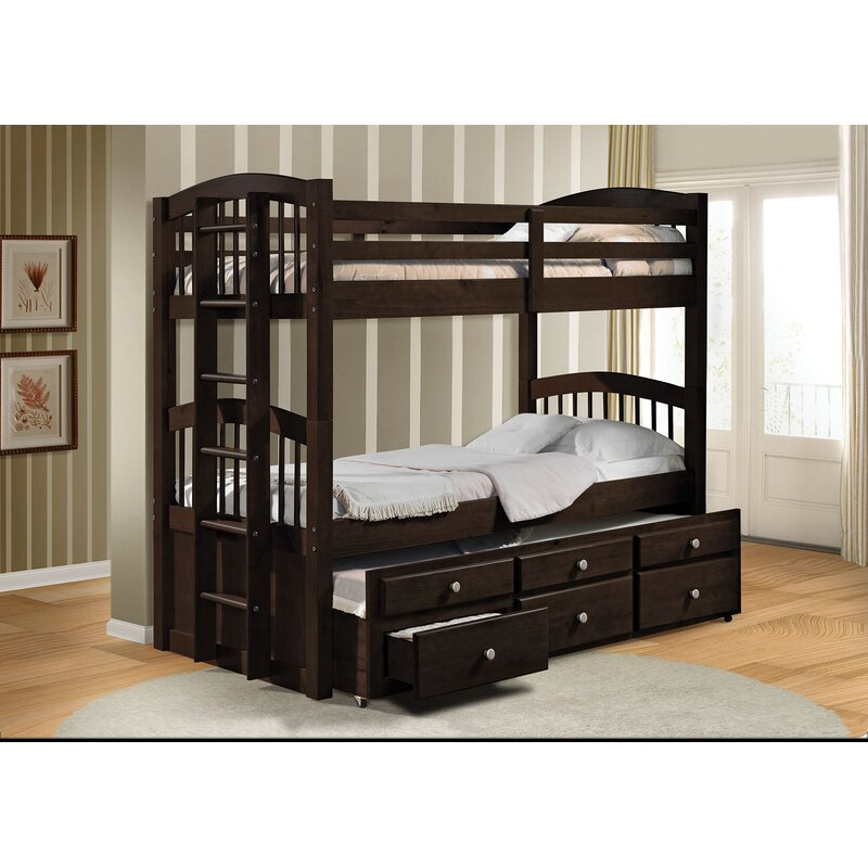 Harriet Bee Artis Twin Over Twin Bunk Bed With 3 Drawers Reviews