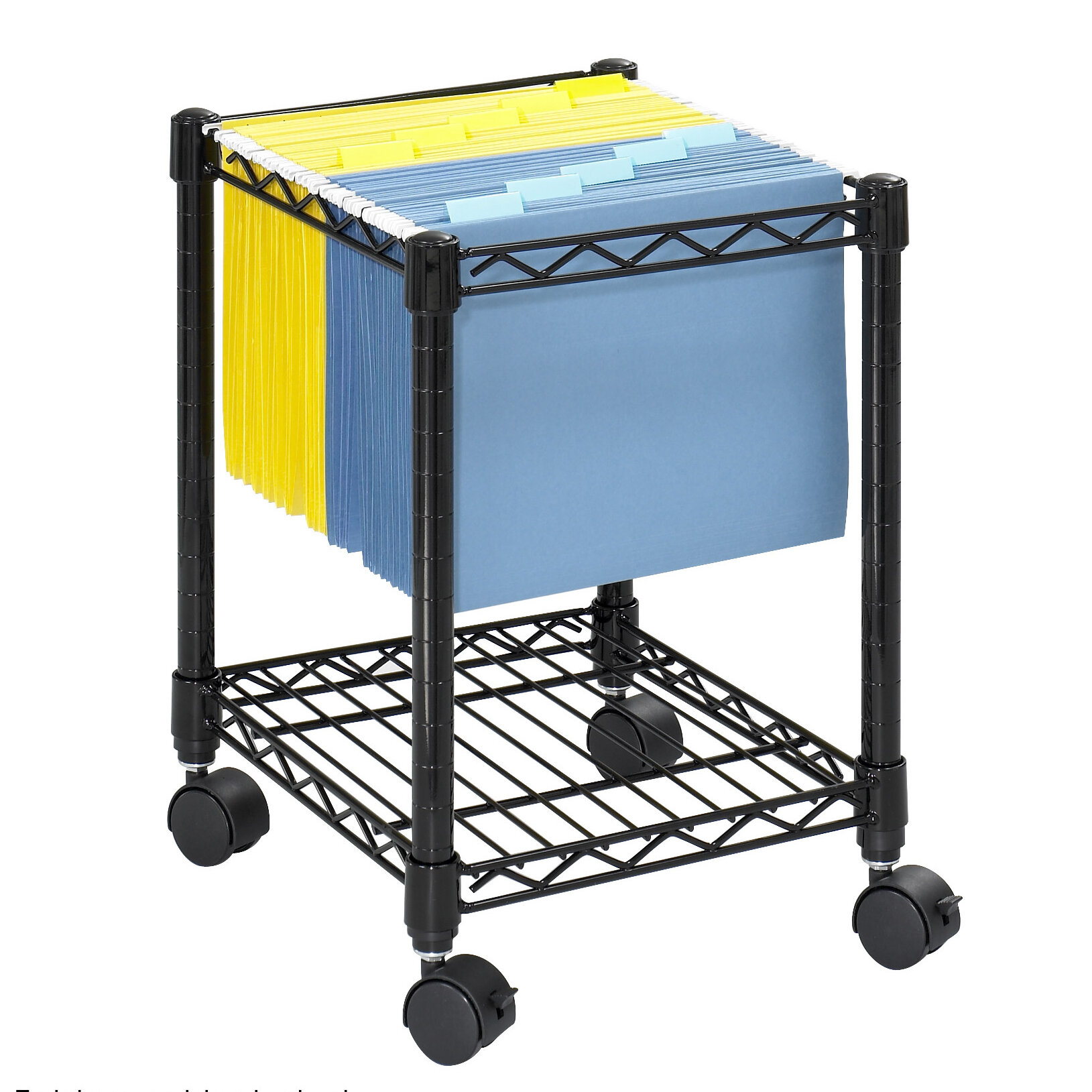 Safco Products Compact Mobile Wire File Cart & Reviews | Wayfair
